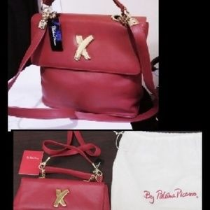 NWT Paloma Picasso Italy Lipstick Red Leather Bag